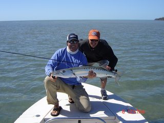 Barracuda are the perfect gamefish on the flats through the winter months